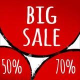 Продажа абстрактной красной предпосылки большая Стоковая Фотография RF