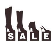 Продажа ботинка Стоковое Изображение