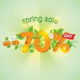 Продажа весеннего сезона до 70%  Стоковые Изображения RF
