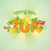 Продажа 70% весеннего сезона  Стоковая Фотография