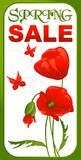 Продажа весны плаката Стоковая Фотография RF