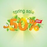 Продажа 50 весны сезона  Стоковое Фото