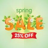 Продажа 25% весны  Стоковая Фотография
