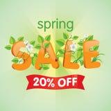 Продажа 20% весны  Стоковые Фотографии RF