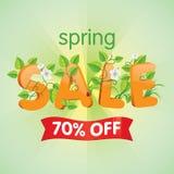 Продажа 70% весны  Стоковое Фото