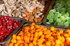 Продажа зимы рождества конфеты кондитерскаи красочная Стоковые Изображения RF