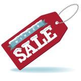 Продажа зимы с биркой снега и ленты Стоковая Фотография RF