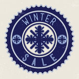 Продажа зимы эмблемы Стоковое фото RF