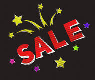 Продажа знамени в стиле ретро-шаржа Стоковая Фотография RF
