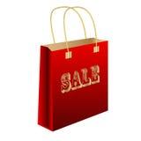 Продажа красного цвета пакета стоковое изображение rf