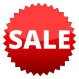 Продажа красной кнопки Стоковые Фото