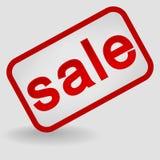 Продажа надписи на серой предпосылке с тенью иллюстрация вектора