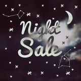 Продажа ночи иллюстрации Стоковые Фотографии RF