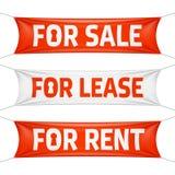 Продажа передней части, для аренды и для знамен ренты Стоковые Изображения RF