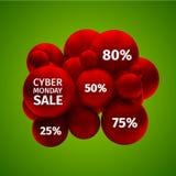Продажа понедельника кибер Стоковое Изображение