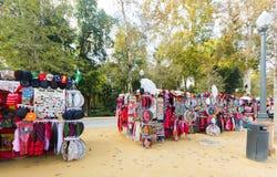 Продажа подарков туриста Севильи Стоковое Изображение