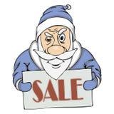 Продажа пре-праздника вектора от Санты Стоковые Фотографии RF