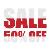 Продажа 50 процентов с предпосылки Стоковые Фотографии RF