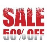 Продажа 50 процентов с предпосылки Стоковое Изображение