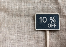 Продажа 10 процентов с чертежа на классн классном Стоковое Изображение