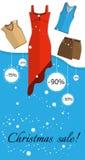 Продажа рождества знамени Стоковые Изображения RF