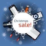 Продажа рождества знамени Стоковое Фото