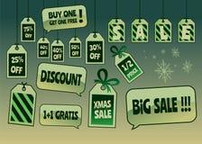 Продажа рождества маркирует и ярлыки Стоковое фото RF