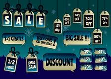 Продажа рождества маркирует и ярлыки Стоковые Фотографии RF