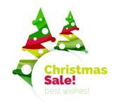 Продажа рождества, поздравительная открытка вектора или знамя бесплатная иллюстрация