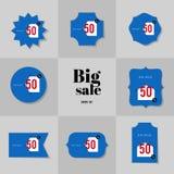 Продажа собрания супер и большие карточки продажи Стоковое Изображение