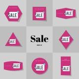 Продажа собрания супер и большие карточки продажи Стоковое Фото