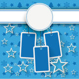 Продажа стикеров цены рождества эмблемы голубая Стоковые Фото