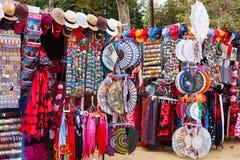 Продажа сувениров в Севилье около Площади de Espana Стоковое фото RF