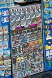 Продажа улицы сувенира в городе Рима стоковые фото