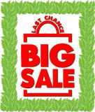 Продажа яркого плаката большая спичка последнего шанса коробки Стоковые Фото