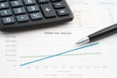 Продажи бизнес-отчетов Стоковое Изображение RF