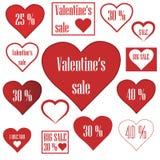 Продажи валентинки Стоковые Фотографии RF
