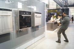 Продажи выставки бытового устройства СИМЕНСА Стоковое Фото