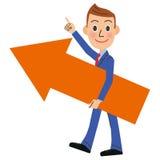 Продажи поднимают бизнесмена Стоковое Изображение RF
