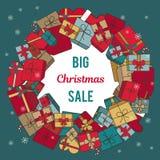` Продажи рождества ` надписи большое на белой предпосылке Стоковые Изображения RF