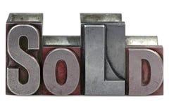 проданный letterpress Стоковые Фотографии RF