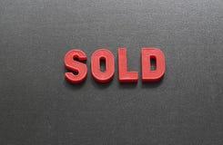 продано стоковые фото