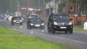 Проливной дождь в туристической зоне Altai Krai акции видеоматериалы