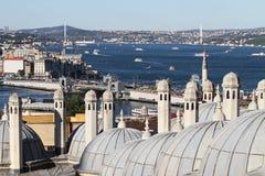Пролив Bosphorus в городе Стамбула Стоковая Фотография RF