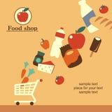 Продовольственный магазин Стоковое Изображение