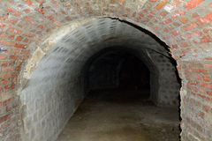 Проложите тоннель под районом замка Buda, Будапештом, Венгрией Стоковое Фото