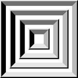 Проложите тоннель серый квадрат, абстрактная форма, иллюстрация вектора Стоковое Изображение