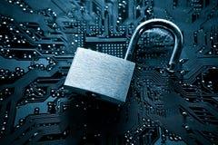 Пролом компьютерной безопасности стоковая фотография rf