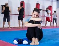 Пролом между тренировкой бокса Стоковые Фото
