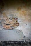 Пролом на стене цемента Стоковые Фото